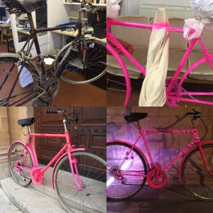 Customised bike Pink from the Great British Bike Off