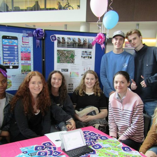 Students at Oxford Brookes University show their project work on the Cowley Road Carnival