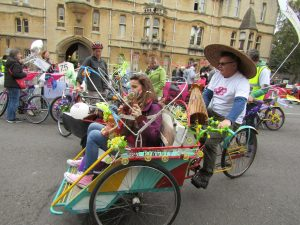 Our rickshaw won top trophy at the Great British Bike Off