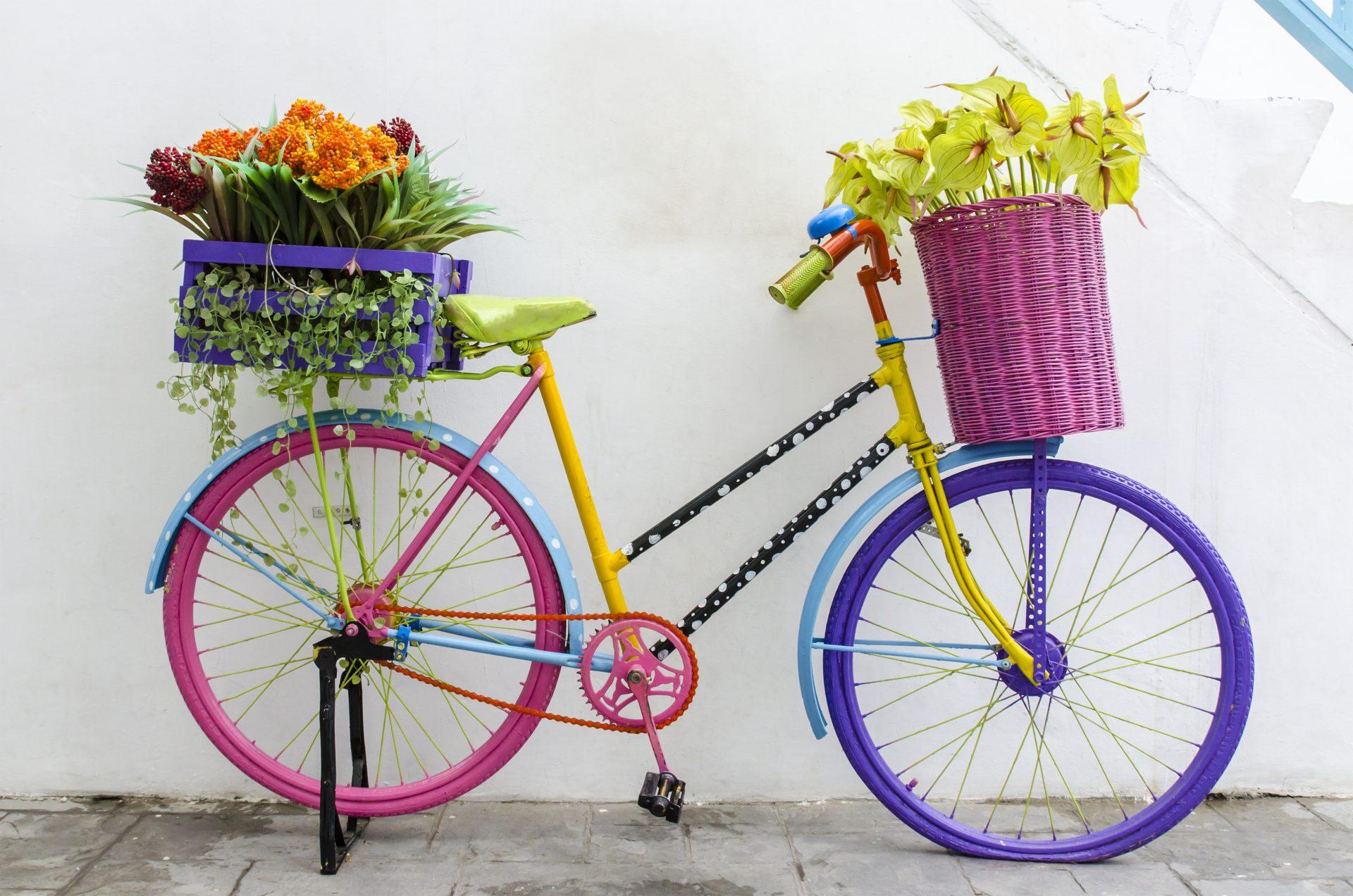 Decorated bike