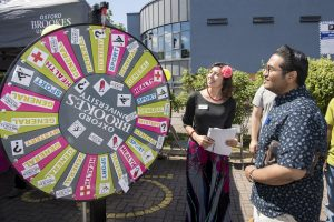 Oxford Brookes University wheel of fortune
