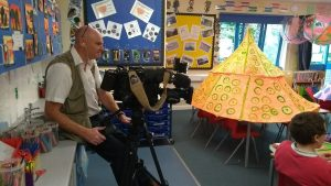 Filming at St Francis School