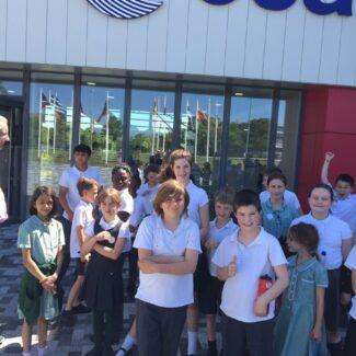 School children visited the Harwell Campus