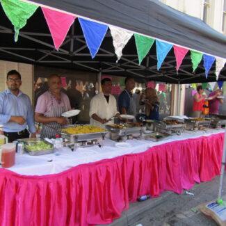 street food stall bunting