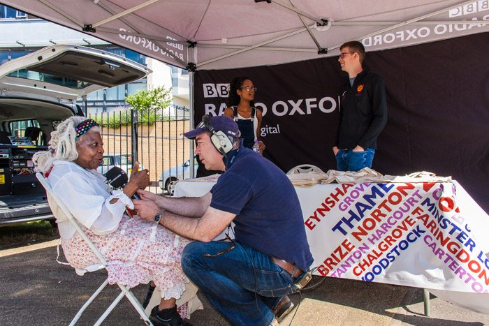 BBC radio Oxford outside broadcast photograph by Koroush Khorshidfar