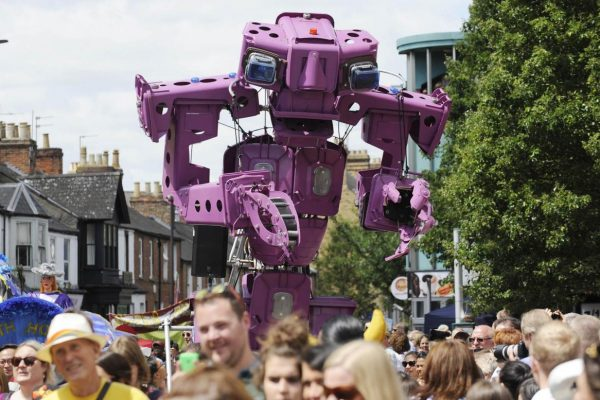 Colossus astride the Cowley_Carnival photograph by Dave Fleming Ox Mail