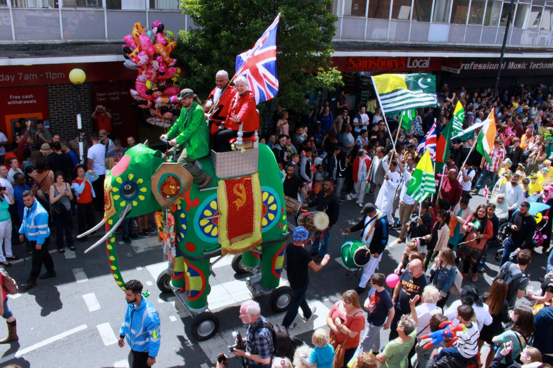 Ellephant leading the procession in 2016 photograph by Jim Robinson