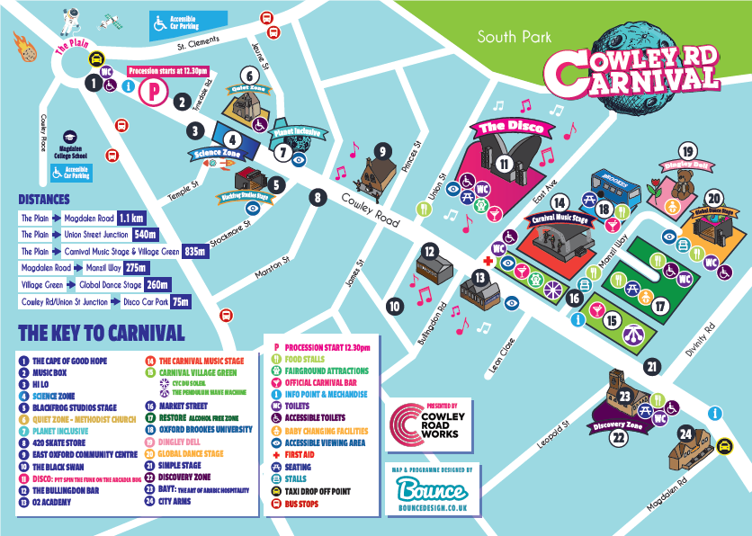 Download our map - Cowley Road Carnival on